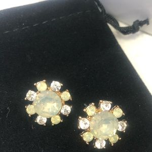 White Opal Iridescent Crystal Earring,NWT